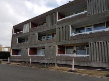 Gevelrenovatie en plaatsen liften 18 appartementen Schelle (Schelle) - voorgevel vóór